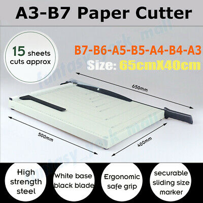 LARGE Premium Metal Paper Cutter Guillotine Page Trimmer 15Sheets Knife A3-B7 AU