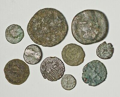 Roman Bronze Coin - Hoard Research Lot of 10 Coins - Each Lot is different