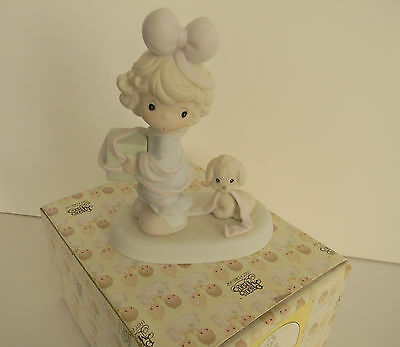 """Precious Moments Christmas Figurine-""""Tied Up For The Holidays"""" --Heart Stamp-New"""