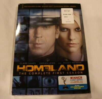 HOMELAND: The Complete First Season (DVD, 2012, 4-Disc Set) - NEW & SEALED