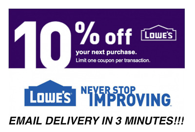 THREE 3X Lowes 10% OFF Promotion Discount - In store/online - Fast Delivery