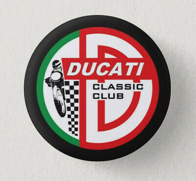 Pin Button Badge Ø38mm  Moto ( motorcycle ) DUCATI #1