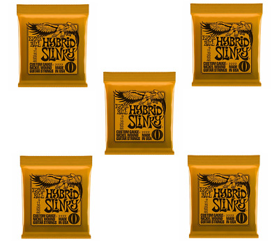 5 Sets Ernie Ball 2222 Hybrid Slinky Nickel Wound Guitar Strings .009-046