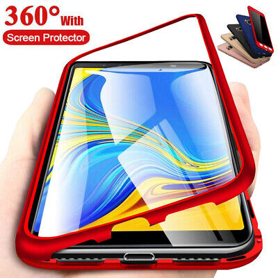 360° Full Cover Case + Tempered Glass For Samsung Galaxy J4 J6 Plus J8 J7 J5 J3