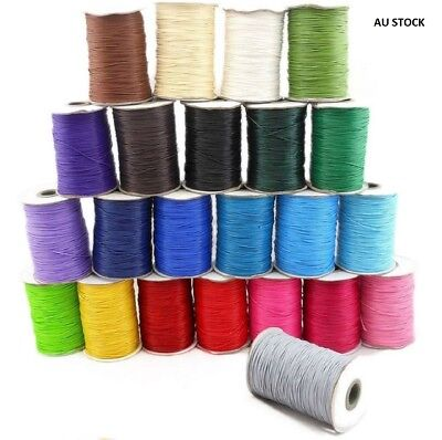 Korean Waxed Polyester Cord Thread Jewellery Craft 0.5mm dia (YC-0.5mm)