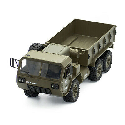 Army Green 1/16 2.4G 6WD Off-Road Climbing Remote Control Military RC Car Truck
