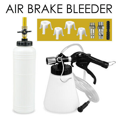 1L Air Brake Bleeder Kit Clutch Vacuum Bleeding Extractor Fluid Fill Adapters AU