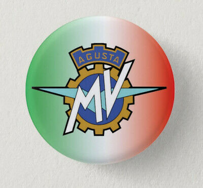 Pin Button Badge Ø38mm  Moto ( motorcycle ) AGUSTA