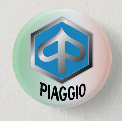 Pin Button Badge Ø38mm  Moto ( motorcycle ) PIAGGIO