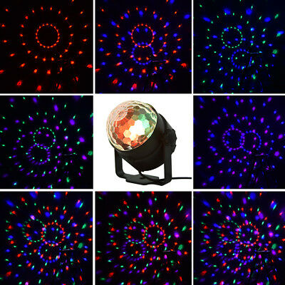 15 Color LED RGB Stage Light Disco Party Effect Lamp Laser Crystal Magic Ball AU