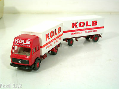 Wiking  LKW Mercedes Benz Kolb Hängerzug,1:87,H0,Top