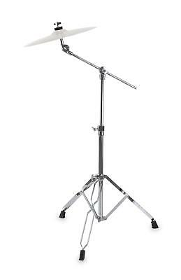 Double Braced Cymbal Stand Boom Arm Heavy Duty Tripod Height Adjustable 65-103Cm