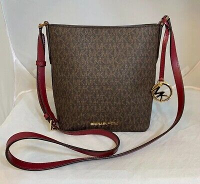 bbca90d3de4b NEW MICHAEL KORS, MK LOGO, KIMBERLY CROSSBODY BAG IN VANILLA/LUGG SM ...
