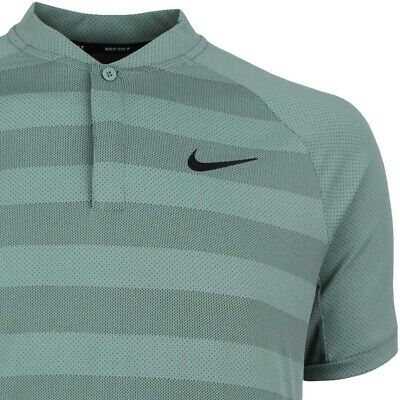 dff2dcf55 Nike Golf Dri Fit Zonal Cooling Momentum Stripe Blade Polo 933318 365 Green  Clay