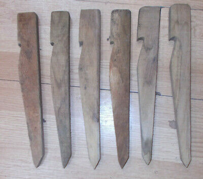 """12 wooden tent pegs 9"""""""