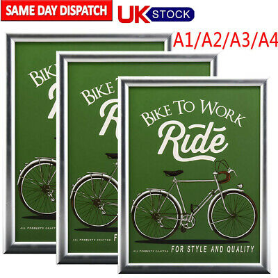 Snap Frames Poster Signs Clip Frame Aluminium Wall Hanging Display 25mm A4 W8700