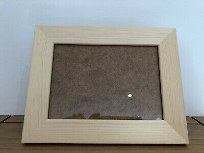 Chunky 5 x 7 Photo Frame Pine Natural Wood Crafting Paint Stain Varnish