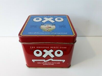 VINTAGE 'OXO TIN' Diamond Jubilee 75 Years of OXO 1910-1985 - FREE DELIVERY