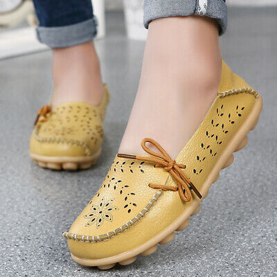 Womens Flat Casual Lazy Loafers Moccasin Shoes Slip On Casual Driving Flats Lady