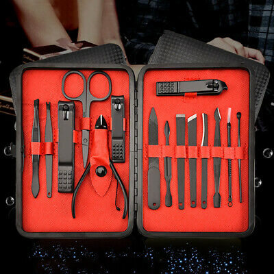 7 Pcs Nail Clippers Kit Stainless Steel Manicure Pedicure Care Set Professional