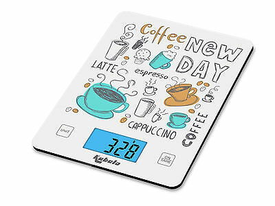 5kg Coffee Design Digital LCD Electronic Kitchen Cooking Food Weighing Scales UK