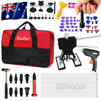 AU 81× PDR Paintless Dent Puller Lifter Hail Removal Tools Car Body Kit Glue Gun