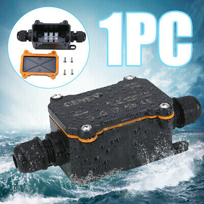 PG9 2 Way Outdoor Waterproof IP68 Electrical Cable Wire Connector Junction Box