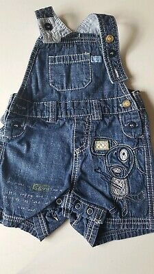 Baby Boys Blue Denim Next Summer Dungarees, Age 0-3 Mths, Vgc
