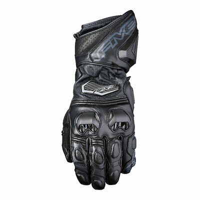 Five RFX3 Motorcycle Motorbike Leather Gloves Black / Black