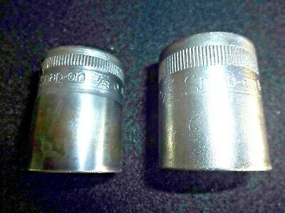 "Two Snap-on 1/2"" Drive Sockets 7/8"" & 15/16"" 12 Pt. SW-280 & SW-300 1/2"