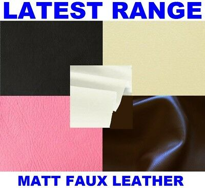 Faux Leather Leatherette Leather Cloth Upholstery Fabric Material 2 Types