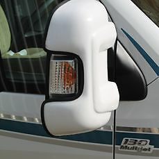 FORD TRANSIT 2014> (TWIN  Wing Mirror Protectors Cover Guards- WHITE  VC46FO0102