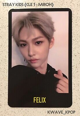 """✨Stray Kids Cle 1 : Miroh✨ Official Qr Voice Photo Card Only - Member """"Felix"""""""