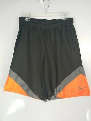 47a557cc42 NIKE DRI FIT Men Basketball Athletic Board Shorts Sz Large Black/Orange/Gray