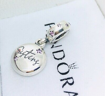 Pandora Genuine Sterling Silver Forever Sisters Dangle Charm # 798012FPC