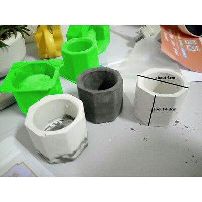 3 Hole 3D Silicone Plaster Mold Fleshy Flower Pot Mould DIY Candle Holder Mould