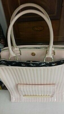 a0e25d44fac Ted Baker Large Quilted Patent Leather Light Pink Tote Bag - Used Only Once