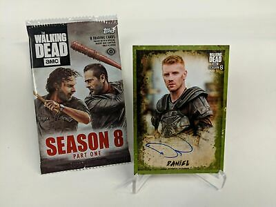Walking Dead S8 DANIEL NEWMAN Signed Autograph Card GREEN Border 23/25 CABP09