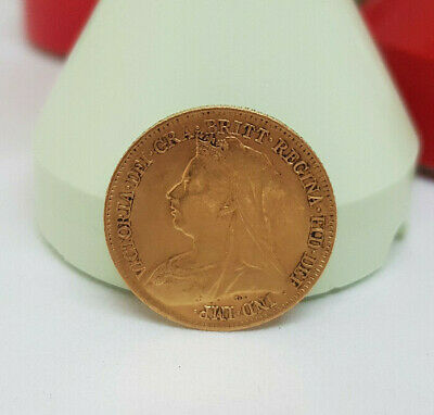 1898 Victorian Solid Gold Half Soverings Coin