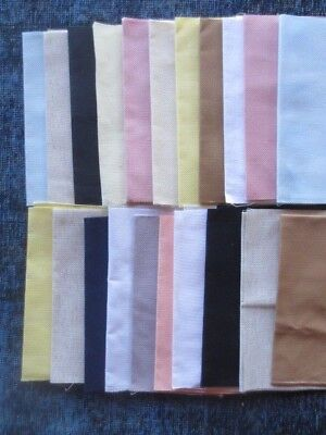 lot 21 counted cross stitch fabric canvas cloth -mostly 12'X18""
