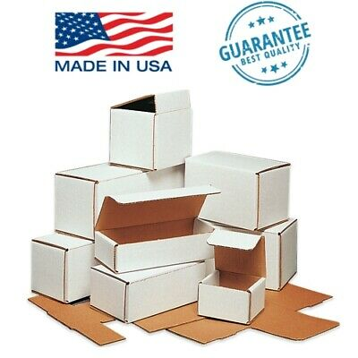 WHITE CORRUGATED MAILERS - 50 or 100 pack - Packing Mailing Shipping Storage