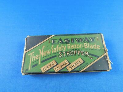 Easiway Hone Sharpening Stone Safety Razor Blade Stropper With Box Vintage Shave