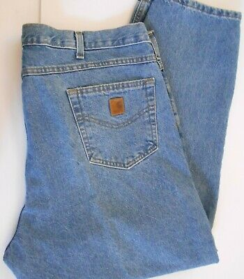 e34f29a82f4 CARHARTT BLUE JEANS 34x28 Medium Wash Relaxed Fit B160 DST 14806 ...