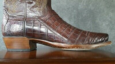 7c1816d0c28 LUCCHESE MENS MONTANA Tan Burnished Full Quill Ostrich Boots M1606 ...