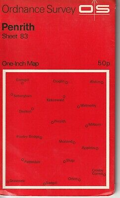 Ordnance Survey One Inch Map 83 Penrith 1:63360 1973 Version OS UK
