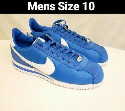 super popular d93a2 cecdf NIKE CORTEZ BASIC Nylon Mens 819720-402 Signal Blue White Running Shoes  size 10
