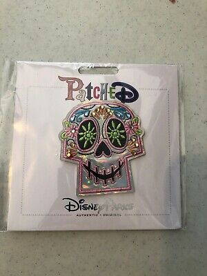 Disney Parks Parched Pixar Coco Skull Day of the Dead Sew Or Adhesive New
