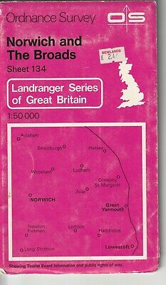 Ordnance Survey Landranger Map Sheet 134 Norwich & The Broads Great Yarmouth OS