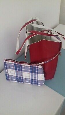 906da803dc5 ZARA REVERSIBLE TOTE Bag with Vertical Lines (White and Red) BNWT ...