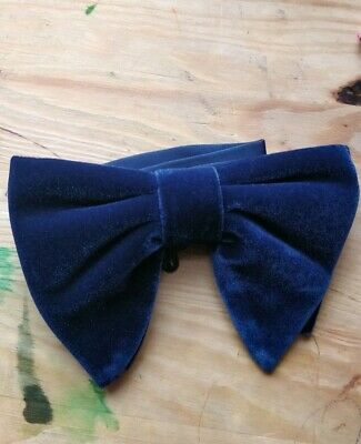 829ab5a15c49 Classic Men's Oversized Bow Tie Big Pre-Tied Navy in Color Butterfly  Bowknots.